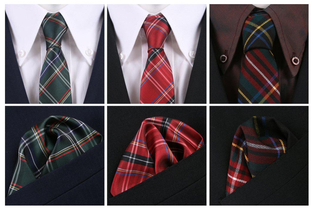 Festive accessories for formal attire. Ties and pocket squares.