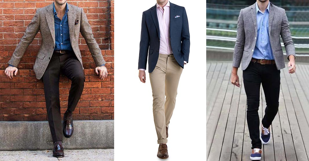 men in business casual outfits