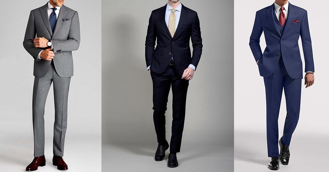 three men in formal suit styles
