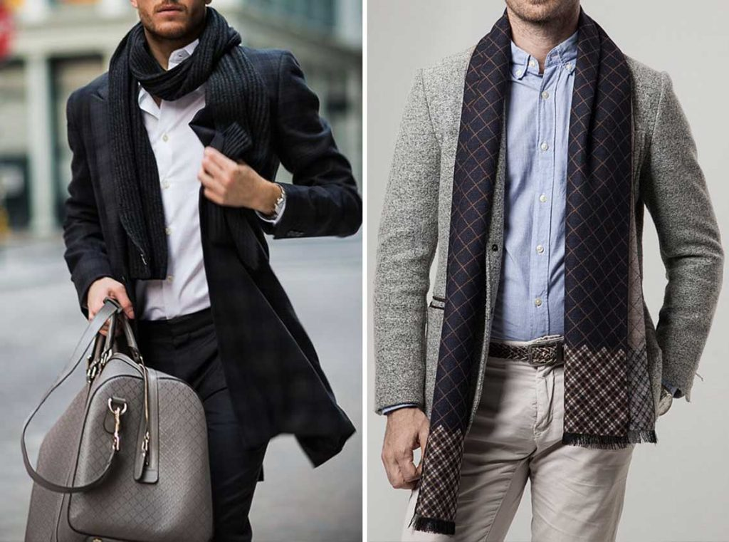 mens scarf for suit