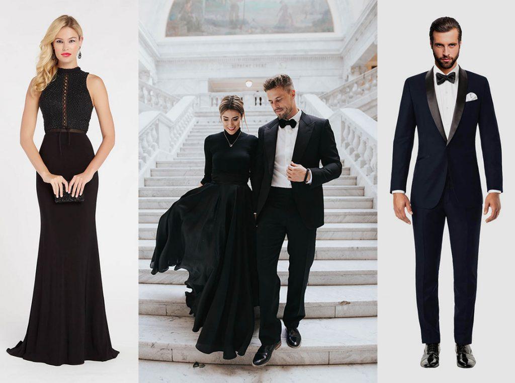 black tie wedding idea