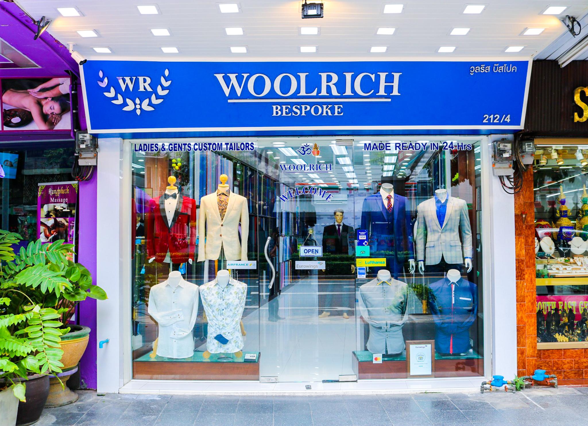 woolrich bespoke tailor bangkok store front